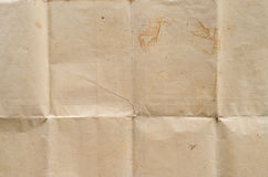 Very old crumpled brown paper Royalty Free Stock Photography