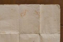 Very old crumpled brown paper texture Stock Photography