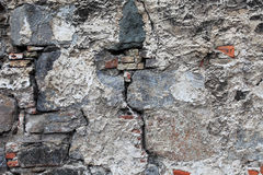 Very old damaged wall with cracks. Stock Images