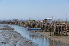 Very Old Dilapidated Fishermen Village Stock Photography