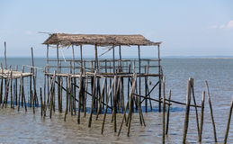 Very Old Dilapidated Pier in Fisherman Village Stock Image