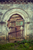 Very old door close up Stock Photo