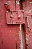 Very old door lock Stock Photo
