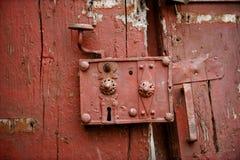 Very old door lock Stock Image