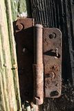 Very old door withe Rusty hinges royalty free stock photography