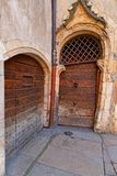 Very old doors in Lyon historic center Royalty Free Stock Photo