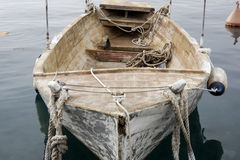 A very old fishing boat. In the harbor Royalty Free Stock Images