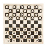 Very old game of checkers, pottery Royalty Free Stock Image