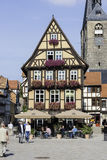 very old german village Quedlinburg Stock Photo