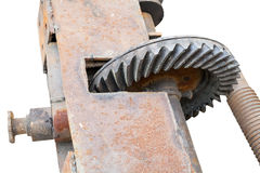 Very old greasy gears hardware Royalty Free Stock Photography