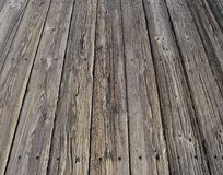 Very old grey boardwalk Royalty Free Stock Photography