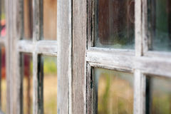 Very old grunged wooden window Stock Photography