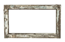 Very old grunged wooden window frame Stock Photography