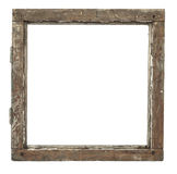 Very old grunged wooden window frame Stock Photo