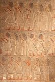 Very old hieroglyphic art wall, Egypt. Details of a very old hieroglyphic artwork in Egypt stock photography