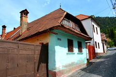 Very old house in the cvartal Schei of Brasov. Brașov is located in the central part of Romania. It is surrounded by the Southern Carpathians and is part of the Royalty Free Stock Photos