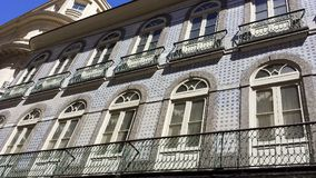 Very old house, Portuguese style. With white Windows Royalty Free Stock Image
