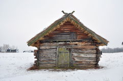 Very old house. Old wooden house built in 1587. Ukraine Stock Photos