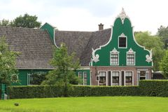 Very old house, Zaanse Schans, Netherlands Stock Photos