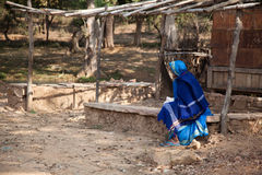 Very Old Indian Villager Woman Stock Photography