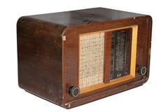 Very old isolated radio Stock Image
