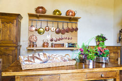 Very old kitchen Stock Images