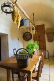 Very old kitchen. Old Kitchen from Chenonceau Chateau, France Stock Image