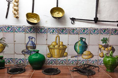 Very old kitchen with ancient utensils Royalty Free Stock Photography
