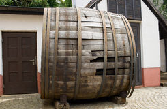 Very old large wine barrel Royalty Free Stock Photography