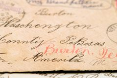 Very old letter envelope  Royalty Free Stock Photos