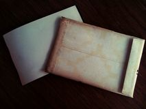 Very old letter envelope Stock Photo