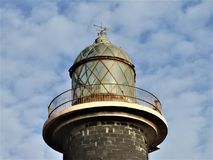 VERY OLD LIGHTHOUSE. IN SARDEGNA Stock Images