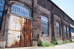The very old metal factory. The very old industrial hard metal factory Royalty Free Stock Photos