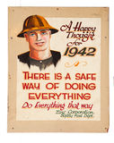 Very old mining safety sign Stock Images