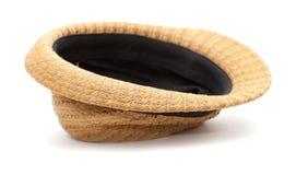 Very old misshapen panama. Straw hat Royalty Free Stock Photo
