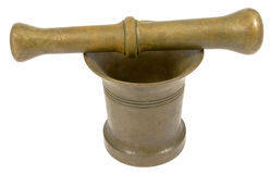 Very old mortar and pestle Stock Photo
