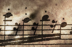 Very old music sheet Royalty Free Stock Photo