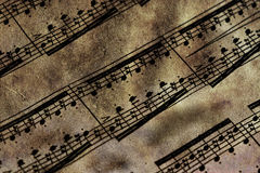 Very old music sheet Royalty Free Stock Photography