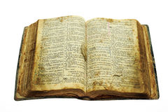 Very old open bible Stock Images