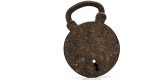 Very old padlock Stock Image