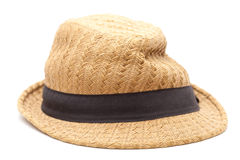 Very old panama straw hat. Very old misshapen panama straw hat Royalty Free Stock Photos