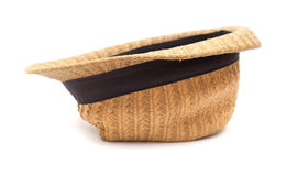 Very old panama straw hat. Very old misshapen panama straw hat Stock Images