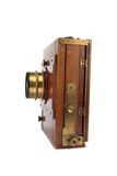 Very old photo camera Royalty Free Stock Image