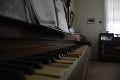 Oldie piano. Very old piano oldies Stock Image