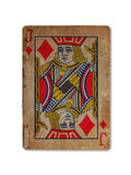 Very old playing card, Jack of diamonds Royalty Free Stock Photos