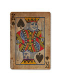 Very old playing card, King of spades Stock Image