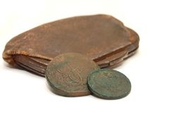 Very old purse of 19 centuries Stock Photography