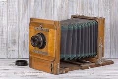 Very old rare photo camera, close up Royalty Free Stock Photos