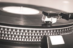 A very old record player. With vynil, in pre vintage style Royalty Free Stock Photography