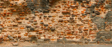 Very old red brick wall. India, Agra Royalty Free Stock Photography